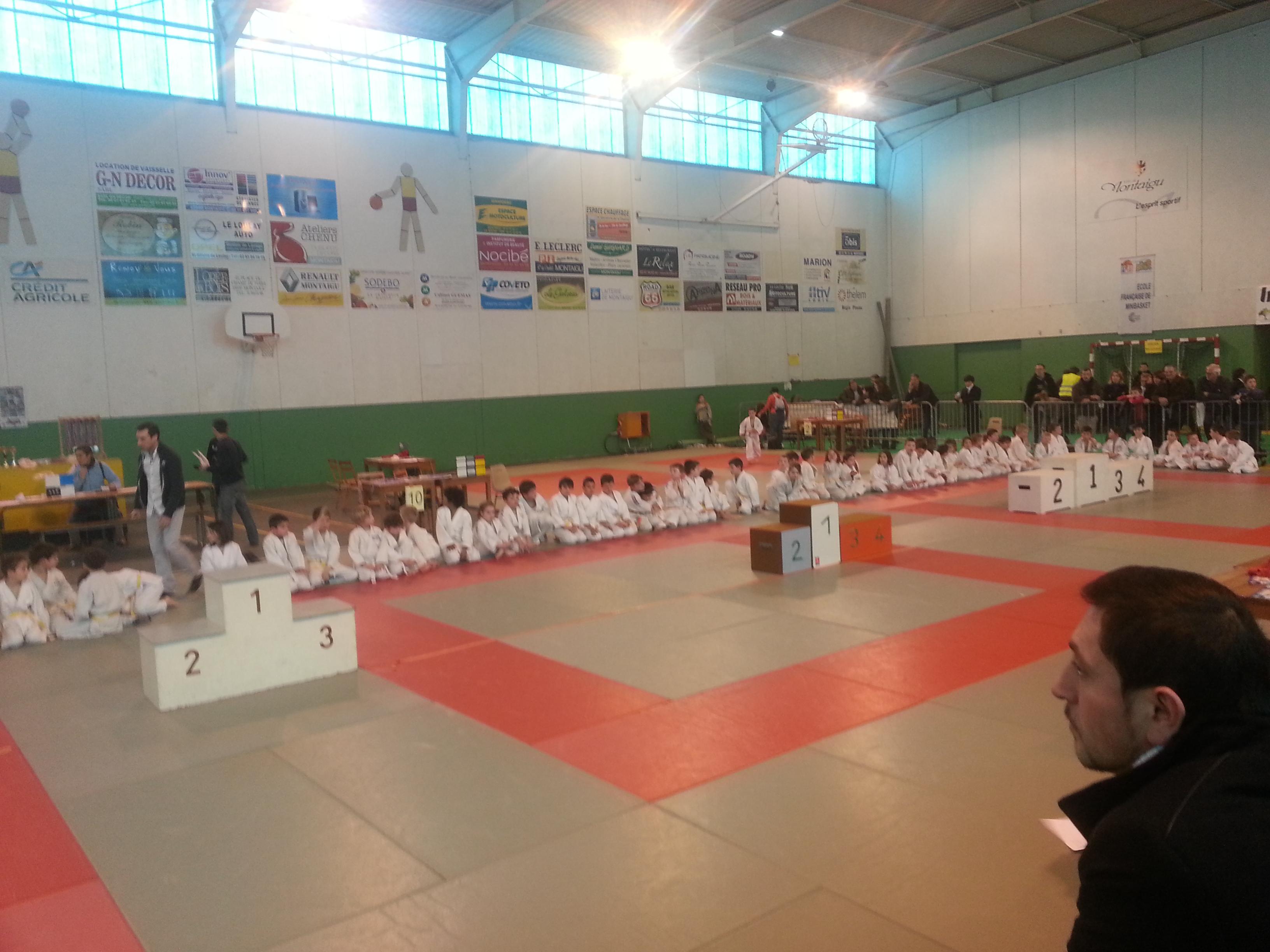 Judo-Club Tournois de Montaigu le 16 Mars 2013 - Remise des médailles année 2005